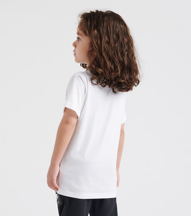 Nike  Boys 4-7 JDI Bumper Sticker Vertical Tee  White - 86F497-001 | Jimmy Jazz
