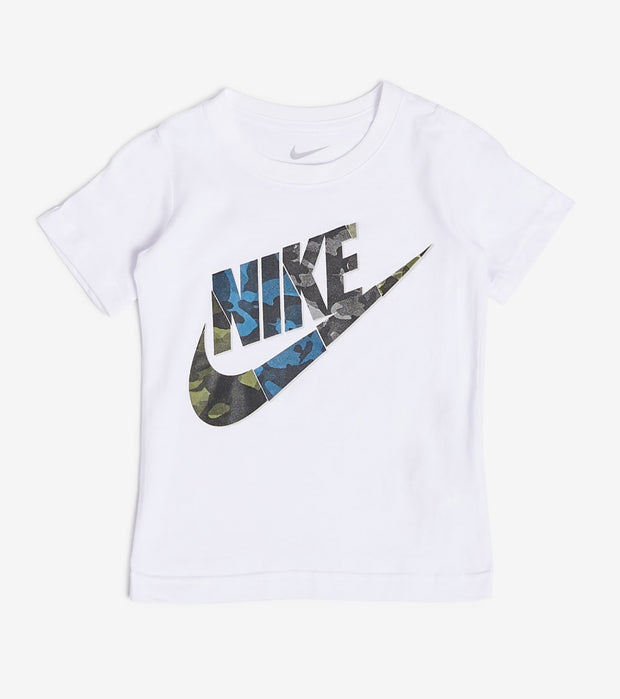 Nike  Boys Nike Camo Short Sleeve Tee  White - 86F579-001 | Jimmy Jazz