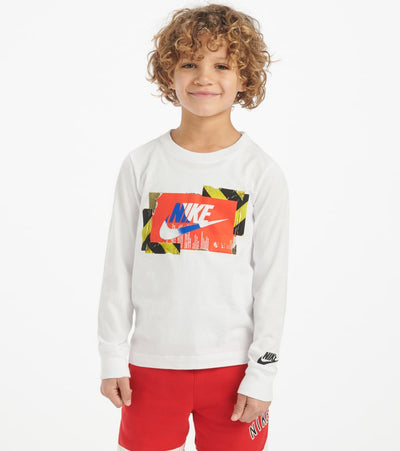 Nike  Boys 4-7 Split Nike Block Tee  White - 86F926-001 | Jimmy Jazz