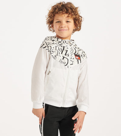 Nike  Boys 4-7 Just Do It Windrunner Jacket  White - 86F999-001 | Jimmy Jazz