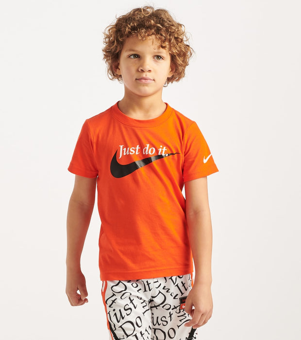 Nike  Boys 4-7 Palatino Swoosh Tee  Orange - 86G095-N82 | Jimmy Jazz