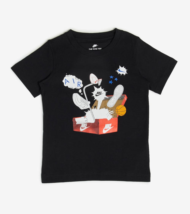 Nike  Boys NSW Shoebox Short Sleeve Tee  Black - 86G540-023 | Jimmy Jazz