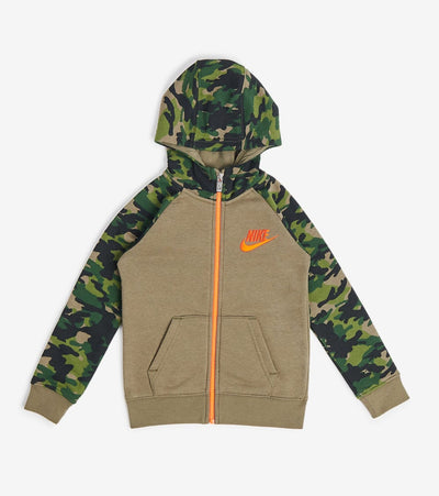 Nike  Boys Crayon Camo Hoodie  Green - 86G823-E6F | Jimmy Jazz