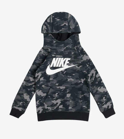 Nike  Boys Crayon Camo Pullover Hoodie  Black - 86G824-023 | Jimmy Jazz
