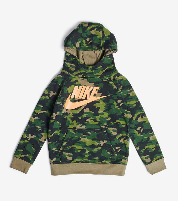 Nike  Boys Camo Pullover Hoodie  Green - 86G824-E6F | Jimmy Jazz