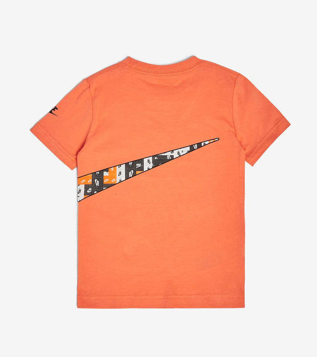 Nike  Boys Lo Fi Label Wrap Swoosh Tee  Orange - 86G873-N5P | Jimmy Jazz