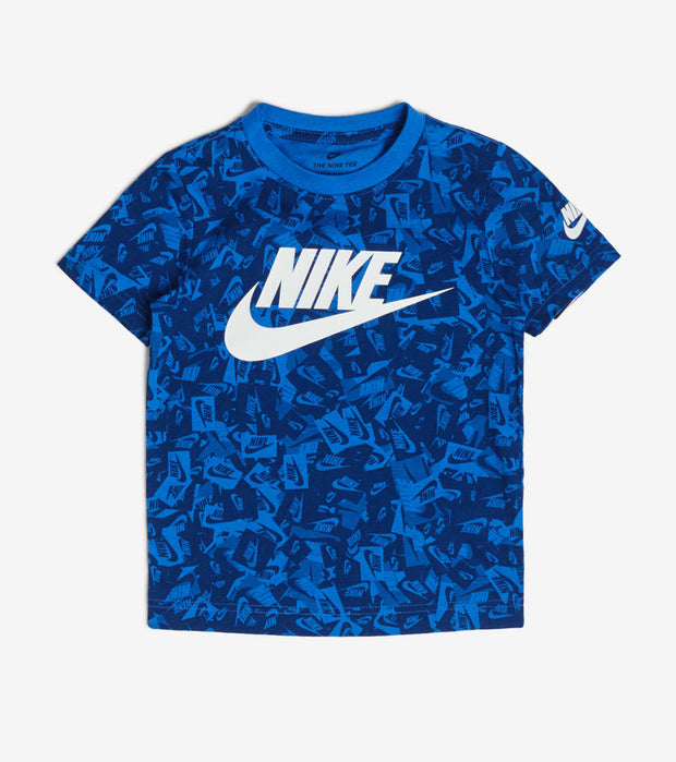 Nike  Boys Label Confetti Tee  Blue - 86G878-U89 | Jimmy Jazz