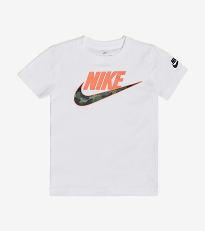Nike  Boys Futura Craom Short Sleeve Tee  White - 86G886-001 | Jimmy Jazz