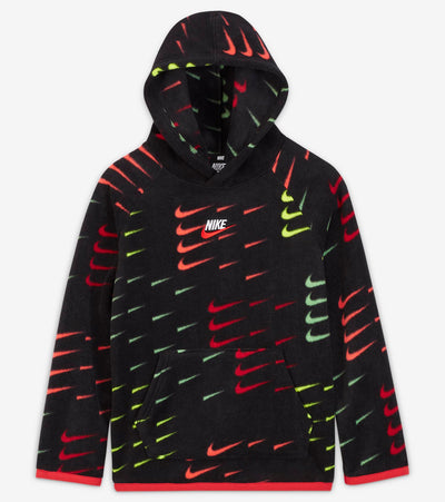 Nike  Boys Printed Arctic Fleece AOP Hoodie  Black - 86H228-023 | Jimmy Jazz
