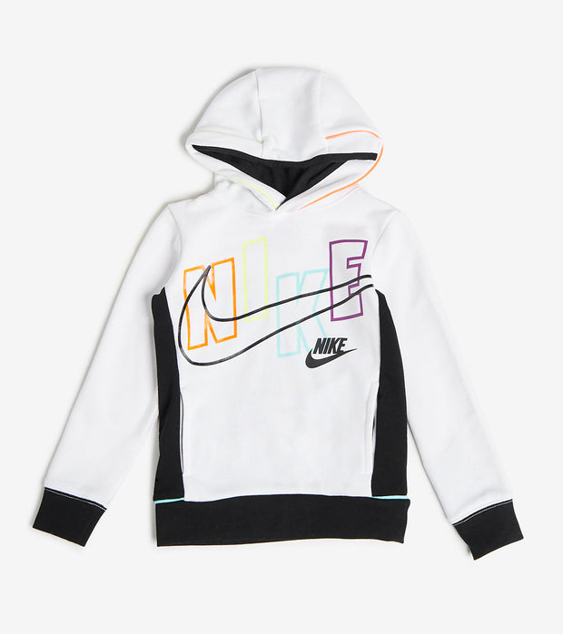 Nike  Boys Now You See Pullover Hoodie  White - 86H358-001 | Jimmy Jazz