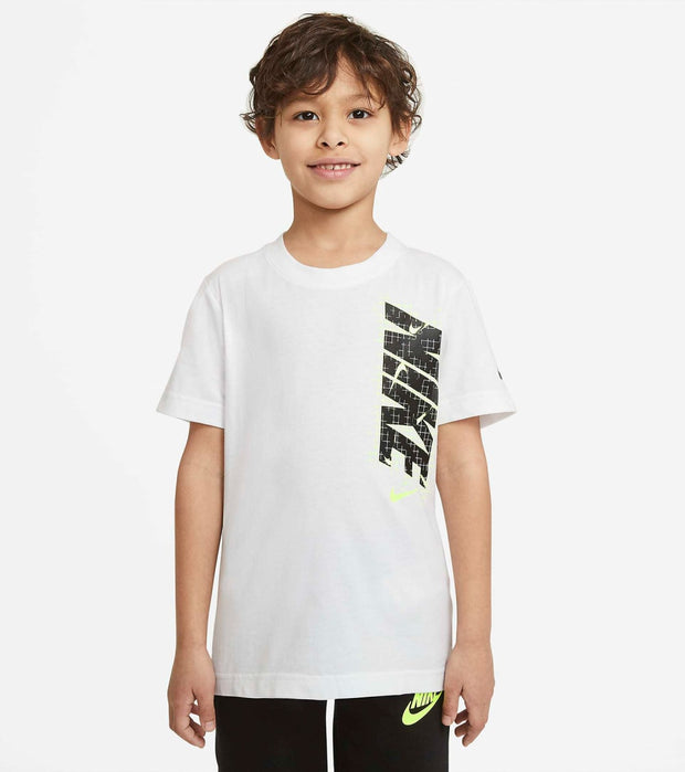Nike  Boys Electric Grid Tee  White - 86H416-001 | Jimmy Jazz