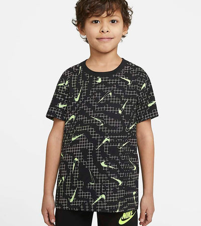 Nike  Boys Electric Grid All Over Print Tee  Black - 86H419-023 | Jimmy Jazz