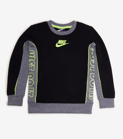 Nike  Boys Colorblock Fleece Crew Neck  Black - 86H469-023 | Jimmy Jazz