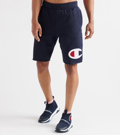 Champion  Reverse Weave Cut-Off Big C Shorts  Navy - 89597GY06820-031 | Jimmy Jazz