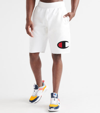 Champion  Reverse Weave Cut-Off Big C Shorts  White - 89597GY06820-045 | Jimmy Jazz