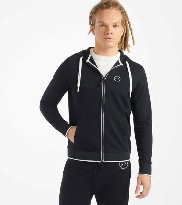 Armani Exchange  AX Basic Zip Hoodie  Navy - 8NZM74Z9N1Z-1510 | Jimmy Jazz