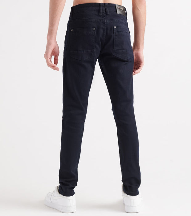 Decibel  Patch N Rose Embro Jeans - L34  Navy - 913205L34-NVY | Jimmy Jazz