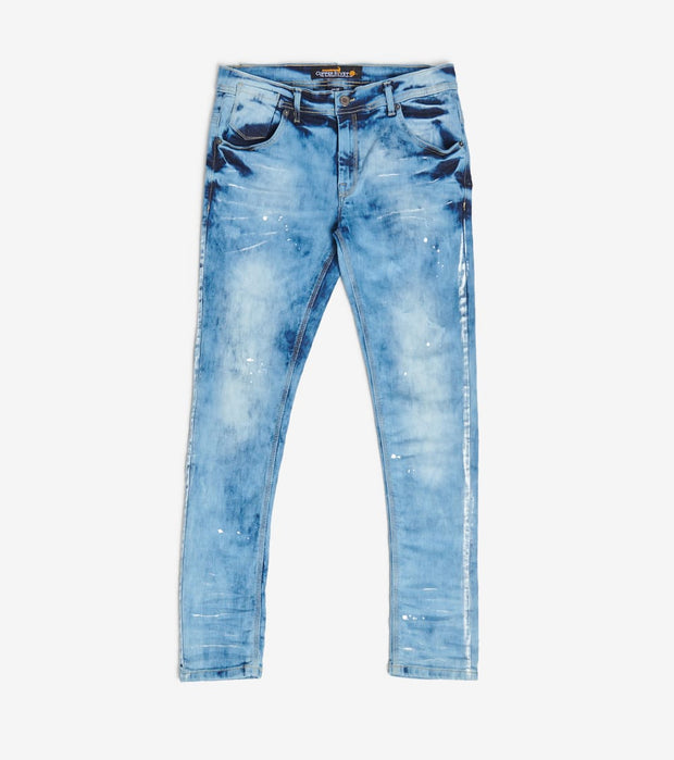 Decibel  Vintage Wash Jean With White Paint  Blue - 933027-VIW | Jimmy Jazz
