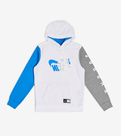 Jordan  Boys Wings Futura Pullover Hoodie  White - 955807-001 | Jimmy Jazz