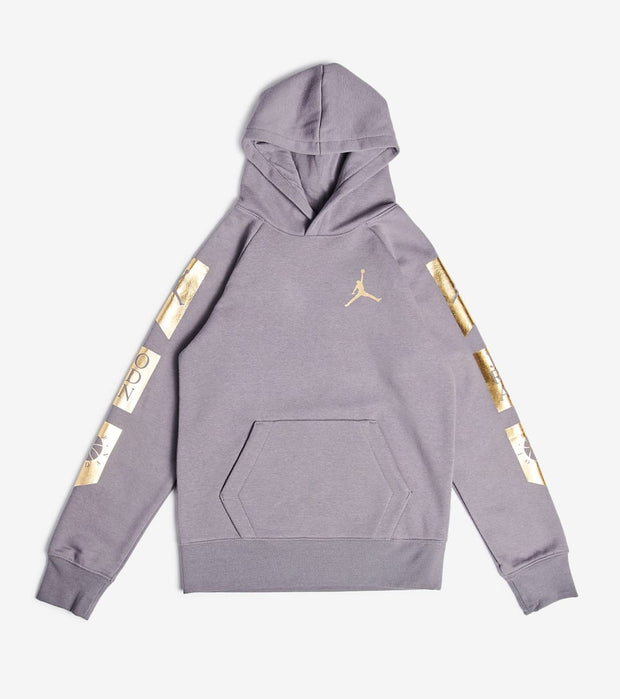 Jordan  Boys Fleece Pullover Hoodie  Grey - 956350-G4T | Jimmy Jazz