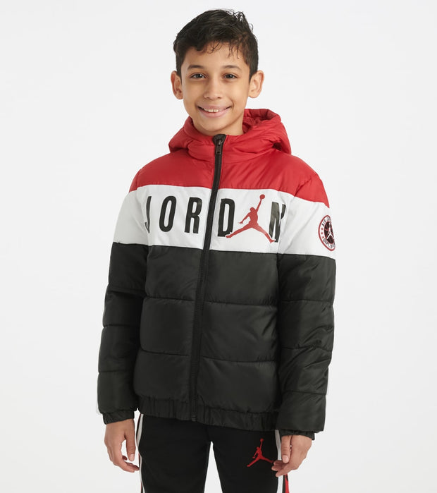 Jordan  Boys 8-20 Color Blocked Puffer Jacket  Black - 956542-023 | Jimmy Jazz