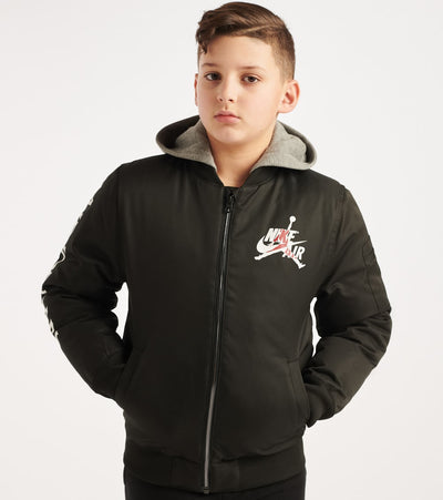 Jordan  Boys 8-20 Hooded Air Bomber  Black - 956544-023 | Jimmy Jazz
