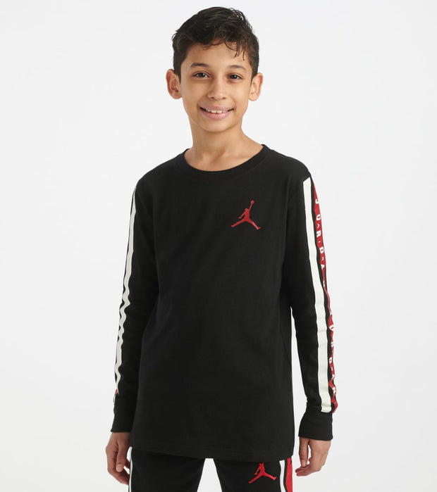 Jordan  Boys 8-20 Long Sleeve Tee  Black - 956612-023 | Jimmy Jazz