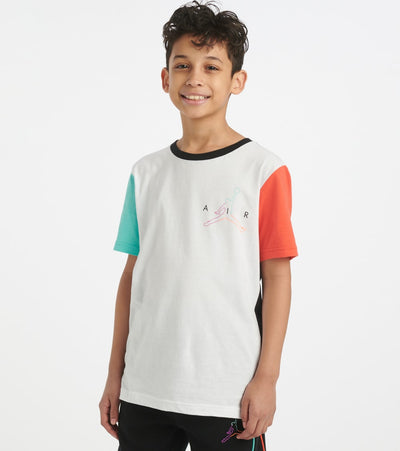Jordan  Boys 8-20 Jordan Air Future Blocked Tee  White - 956686-001 | Jimmy Jazz