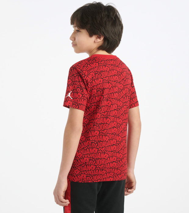 Jordan  Boys 8-20 Sticker Tee  Red - 956860-R78 | Jimmy Jazz