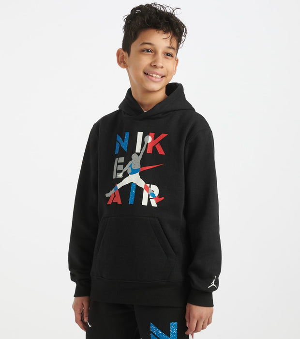 Jordan  Boys Air Jordan 4 Hoodie  Black - 956984-023 | Jimmy Jazz