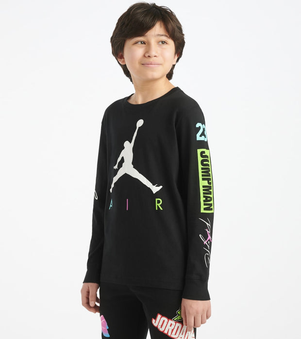 Jordan  Boys 8-20 Suit Up Long Sleeve Tee  Black - 956993-023 | Jimmy Jazz