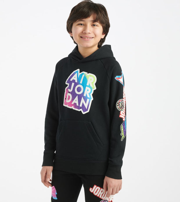 Jordan  Boys 8-20 Jumpman Sticker Pullover  Black - 957173-023 | Jimmy Jazz