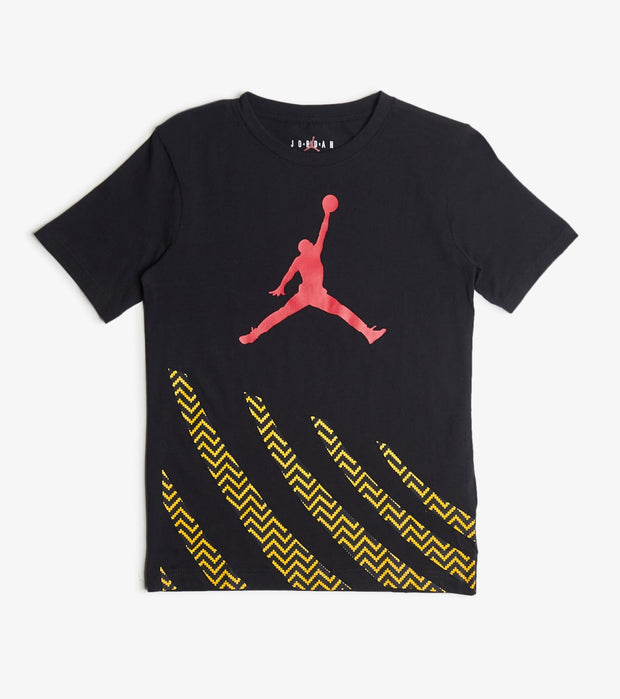 Jordan  Boys Air Jordan 12 Stripes Tee  Black - 957183-023 | Jimmy Jazz