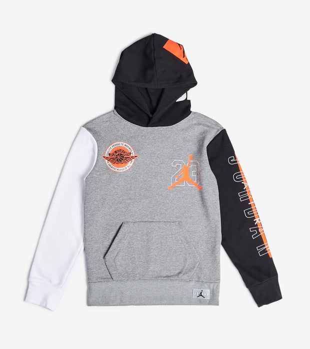 Jordan  Boys Pullover Hoodie  Grey - 957302-GEH | Jimmy Jazz