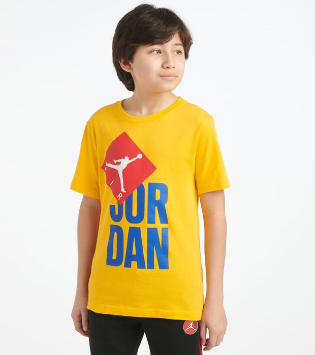 Jordan  Boys 8-20 Jordan Logo Tee  Yellow - 957365-Y1X | Jimmy Jazz