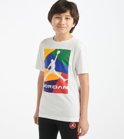 Jordan  Boys 8-20 AJ13 Crossed Up Tee  White - 957965-001 | Jimmy Jazz