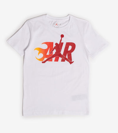 Jordan  Boys Air Flame Short Sleeve Tee  White - 957976-001 | Jimmy Jazz