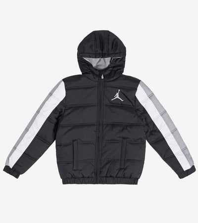 Jordan  Boys Nylon Puffer Jacket  Black - 959059-380 | Jimmy Jazz