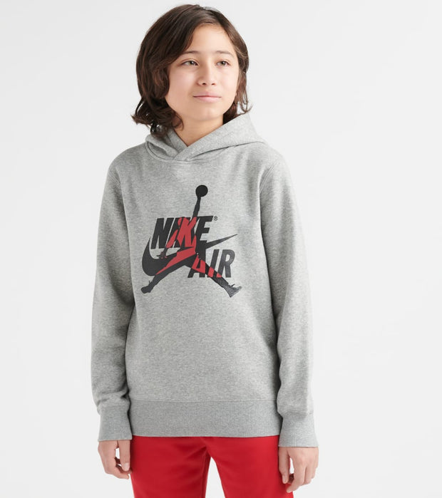 Jordan  Boys 8-20 AJ Air Hoody  Grey - 95A016-042 | Jimmy Jazz