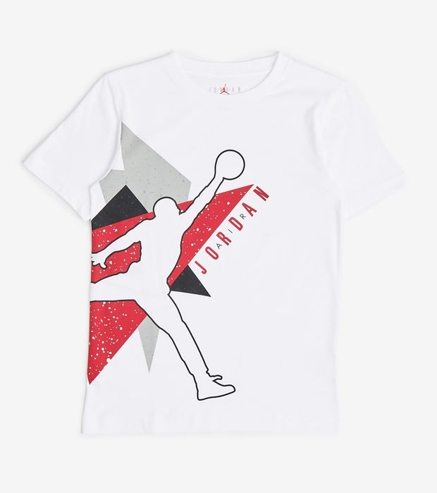 Jordan  Boys Jumbo Geo Tee  White - 95A064-001 | Jimmy Jazz