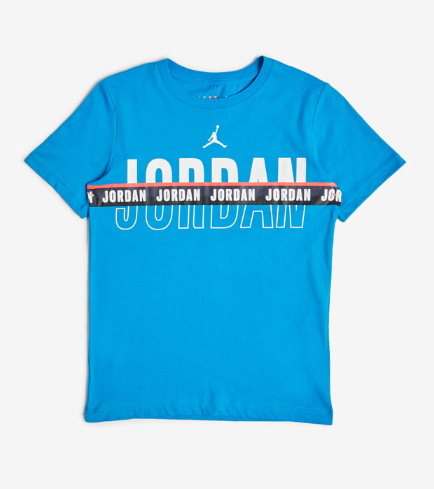 Jordan  Split Decision Short Sleeve Tee  Blue - 95A066-C7Y | Jimmy Jazz