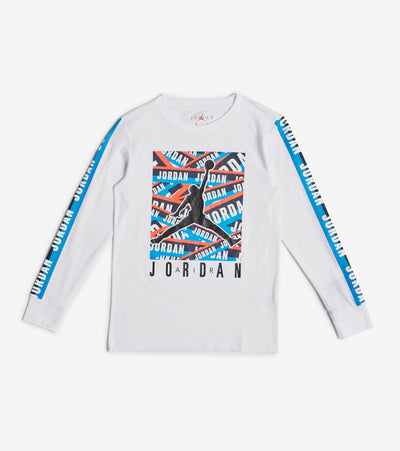 Jordan  Taped Up Long Sleeve Tee  White - 95A074-001 | Jimmy Jazz