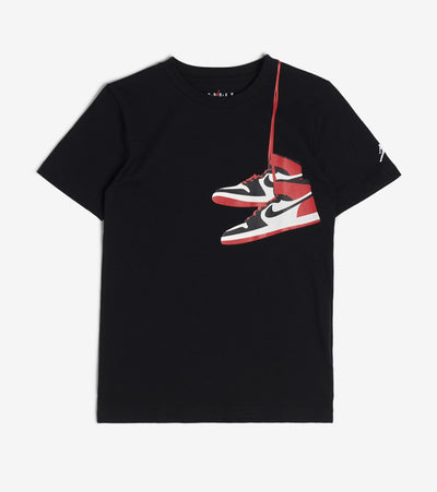Jordan  Boys AJ1 Street View Short Sleeve Tee  Black - 95A182-023 | Jimmy Jazz
