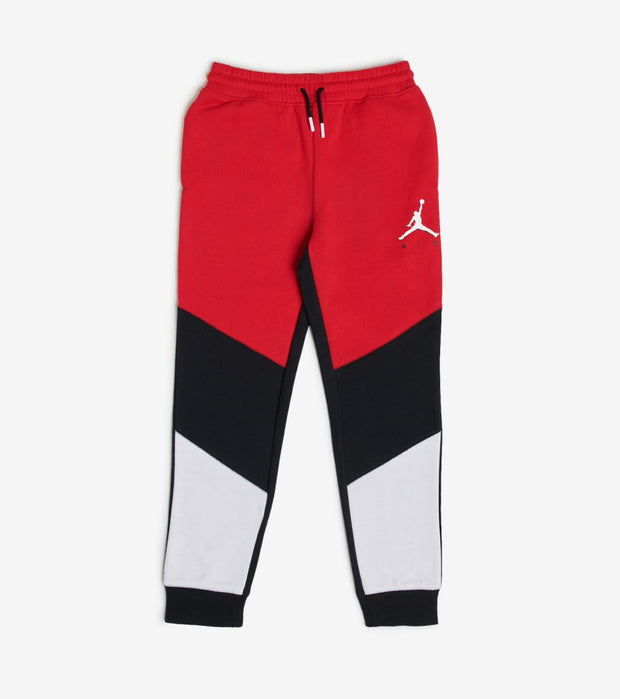 Jordan  Boys Fleece Color Blocked Joggers  Red - 95A190-R78 | Jimmy Jazz
