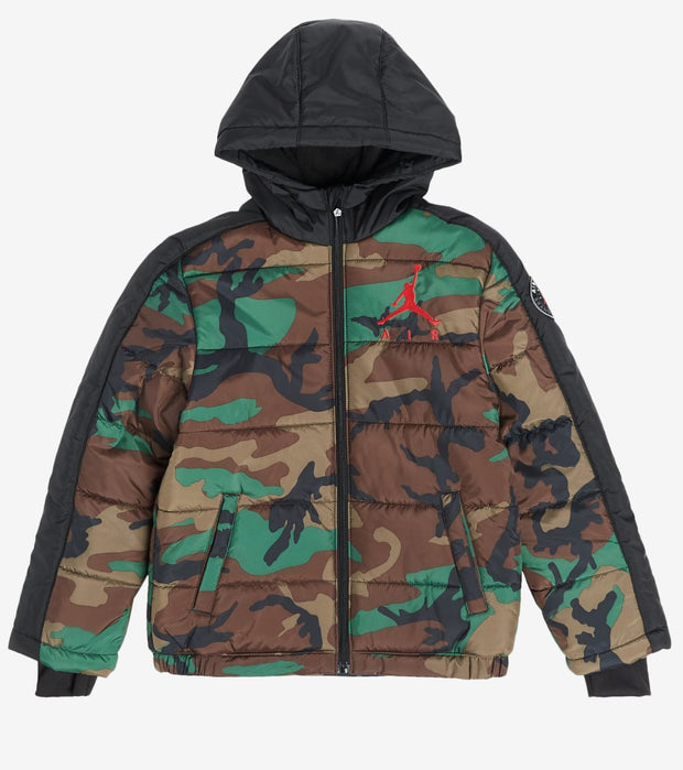 Jordan  Boys Jordan Color Block Puffer Jacket  Camo - 95A315-X34 | Jimmy Jazz