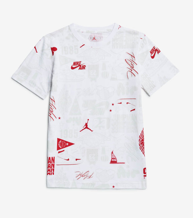 Jordan  Boys Air Element All Over Print Tee  White - 95A619-001 | Jimmy Jazz