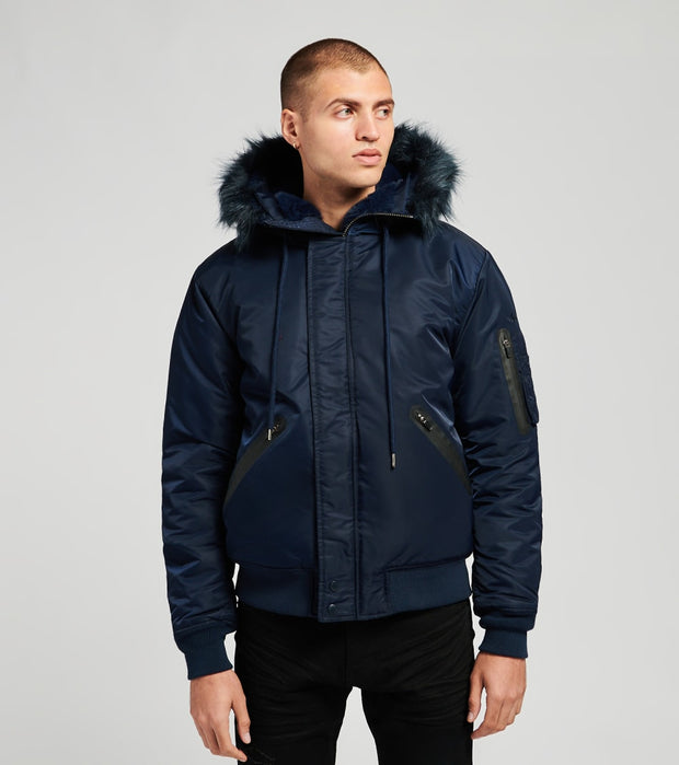 Schott  Flight Satin N2B Jacket  Navy - 9936-NVY | Jimmy Jazz
