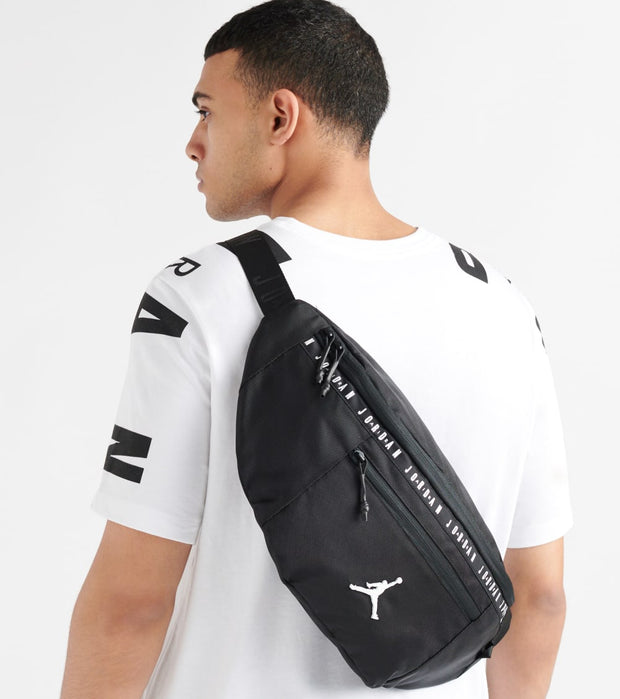 Jordan  Oversized Taping Crossbody Bag  Black - 9A0245-023 | Jimmy Jazz