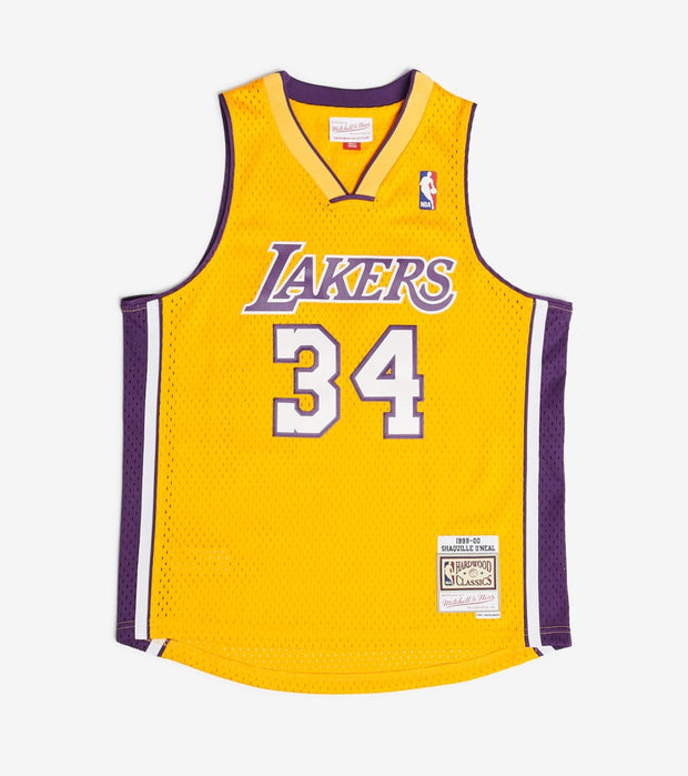 Mitchell And Ness  Boys Shaquille ONeal 34 Lakers Jersey  Gold - 9N2B7BHM0LAKSO-Y99 | Jimmy Jazz