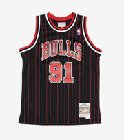 Mitchell And Ness  Boys Dennis Rodman 91 Bulls Jersey  Black - 9N2B7BLT0BULDR-Y95 | Jimmy Jazz